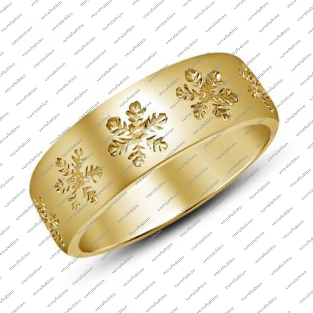 Women\'s Wedding Band Ring 14k Yellow Gold Plated Without Stone 925 ...